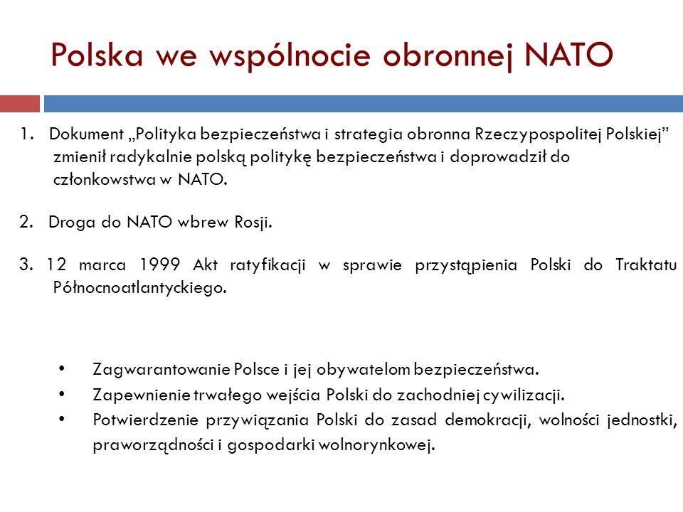 Polska we wspólnocie obronnej NATO