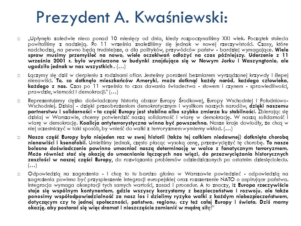 Prezydent A. Kwaśniewski: