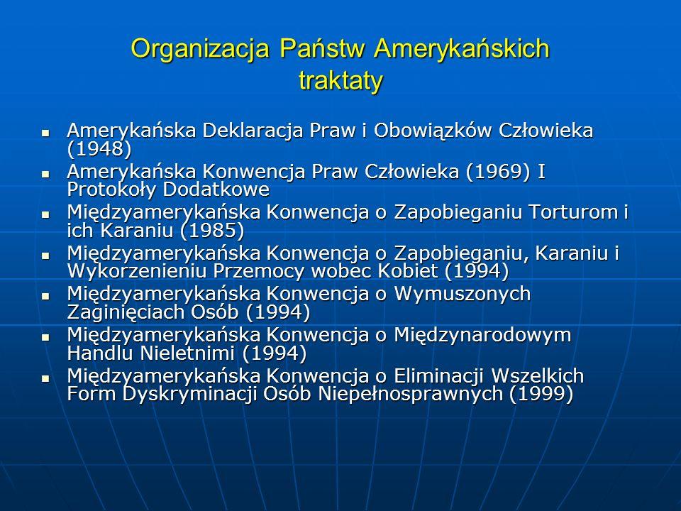Organizacja Państw Amerykańskich traktaty