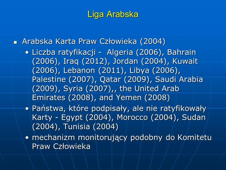 Liga Arabska Arabska Karta Praw Człowieka (2004)
