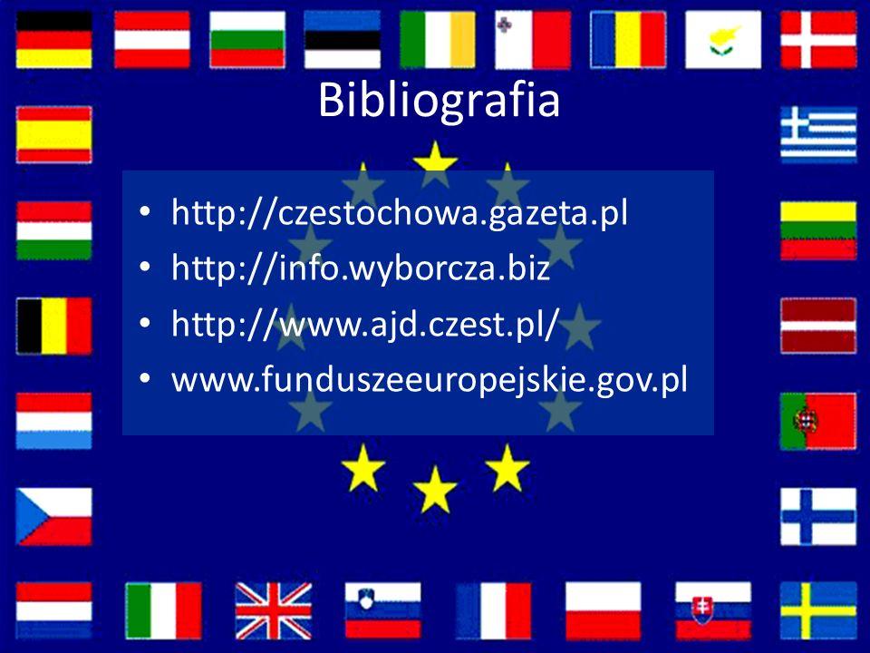 Bibliografia http://czestochowa.gazeta.pl http://info.wyborcza.biz