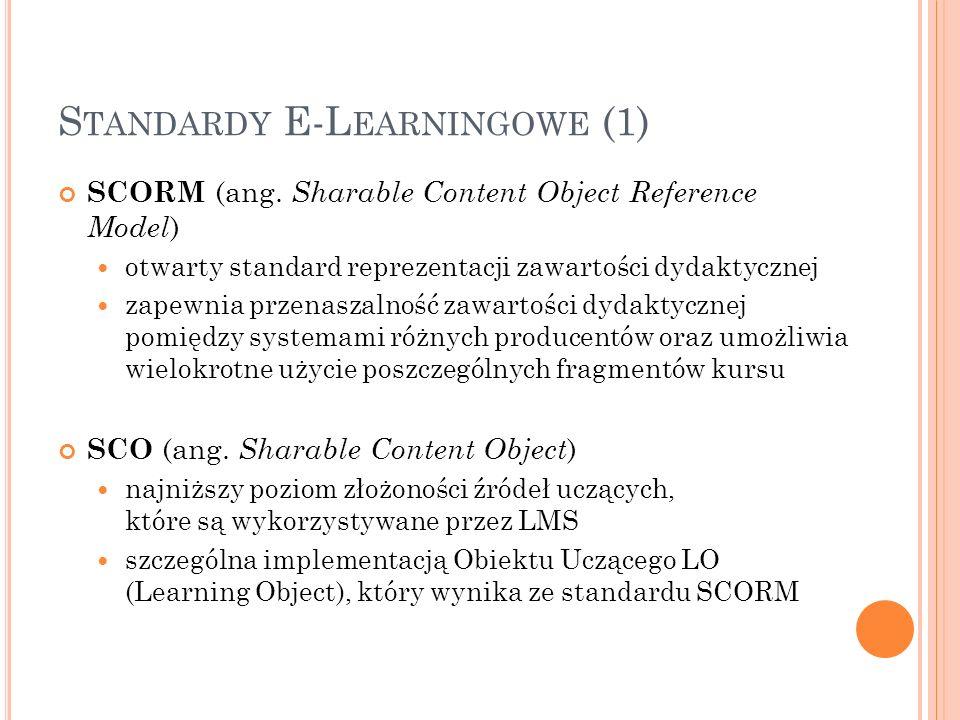 Standardy E-Learningowe (1)