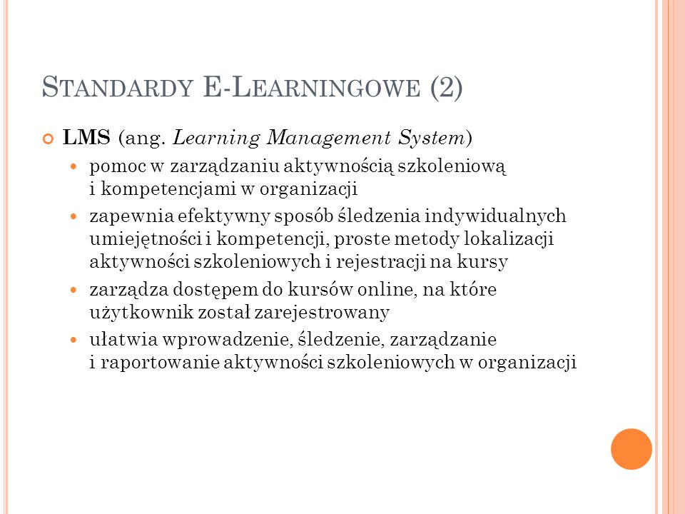 Standardy E-Learningowe (2)