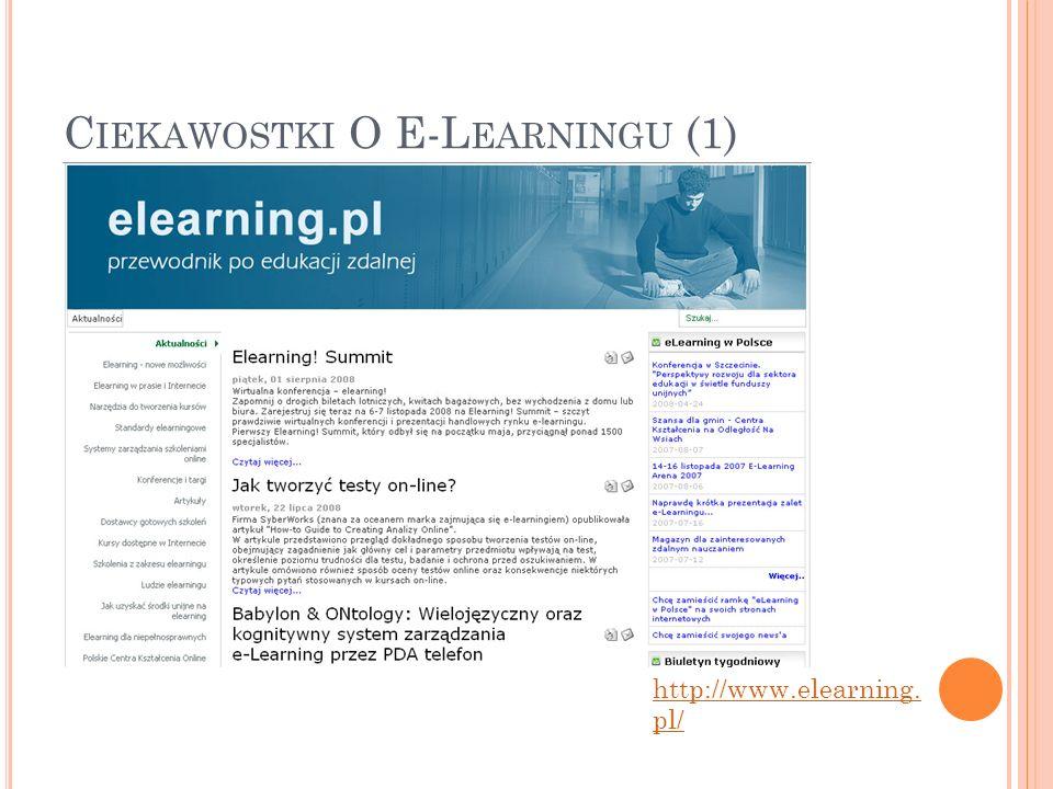 Ciekawostki O E-Learningu (1)