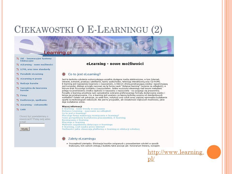 Ciekawostki O E-Learningu (2)