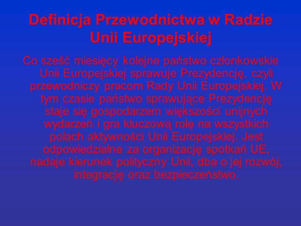 Definicja Przewodnictwa w Radzie Unii Europejskiej