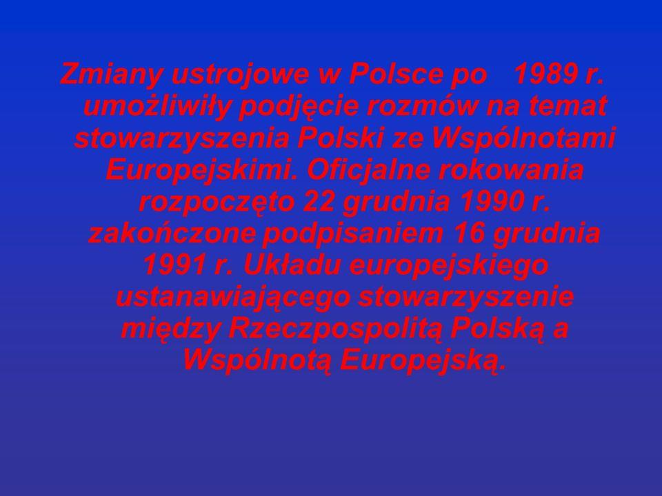 Zmiany ustrojowe w Polsce po 1989 r