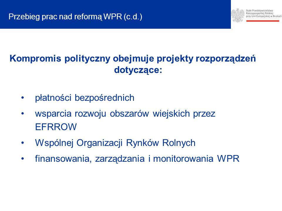 Przebieg prac nad reformą WPR (c.d.)