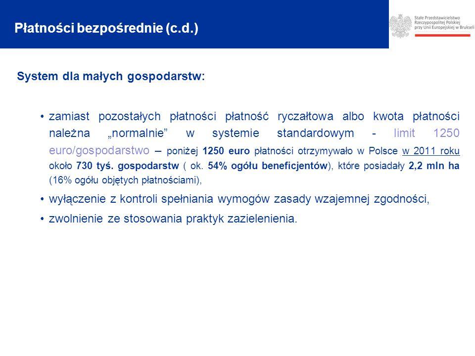 Płatności bezpośrednie (c.d.)