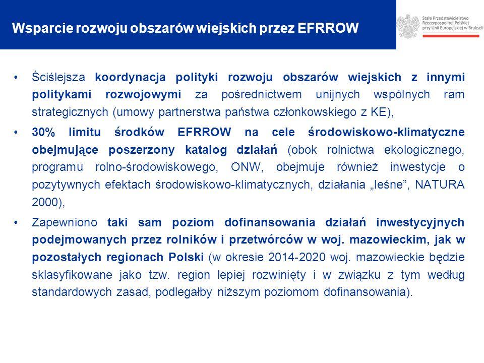 Wsparcie rozwoju obszarów wiejskich przez EFRROW