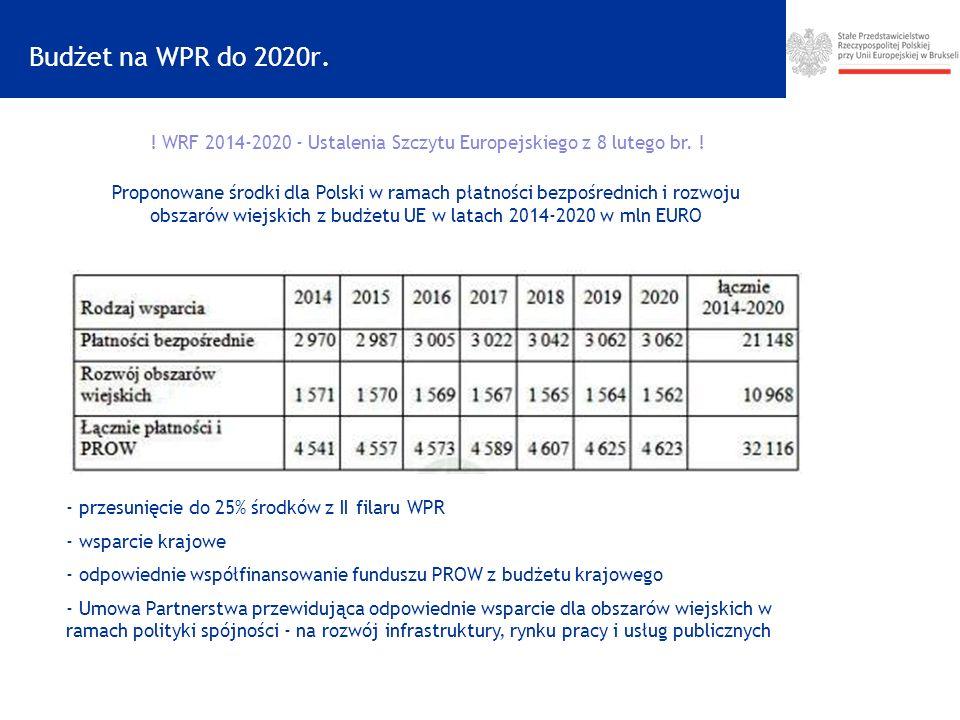 ! WRF 2014-2020 - Ustalenia Szczytu Europejskiego z 8 lutego br. !