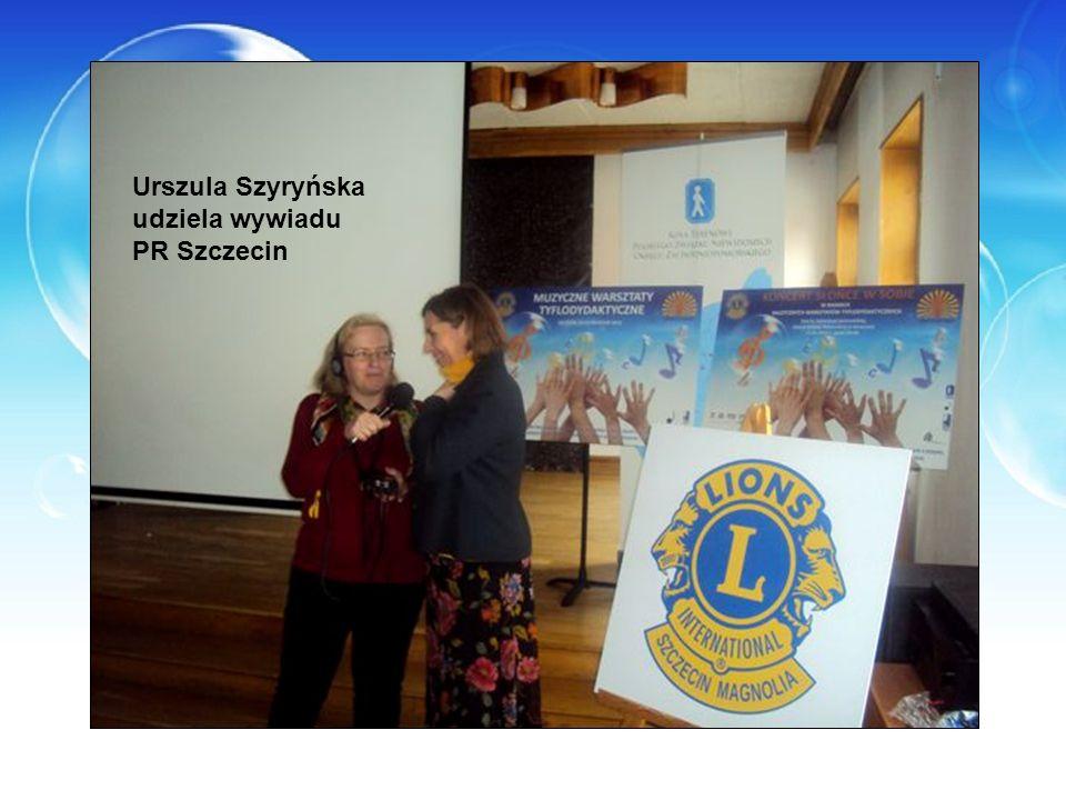 Urszula Szyryńska udziela wywiadu PR Szczecin
