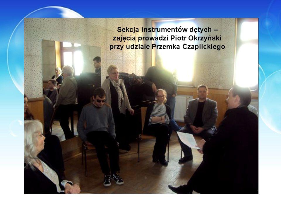 Sekcja instrumentów dętych – zajęcia prowadzi Piotr Okrzyński