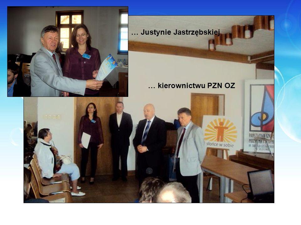 … Justynie Jastrzębskiej