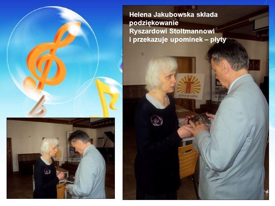 Helena Jakubowska składa podziękowanie
