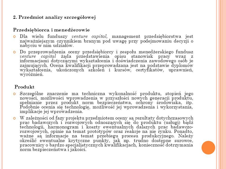 2. Przedmiot analizy szczegółowej