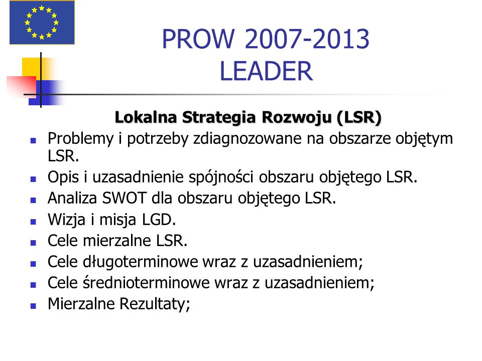 Lokalna Strategia Rozwoju (LSR)