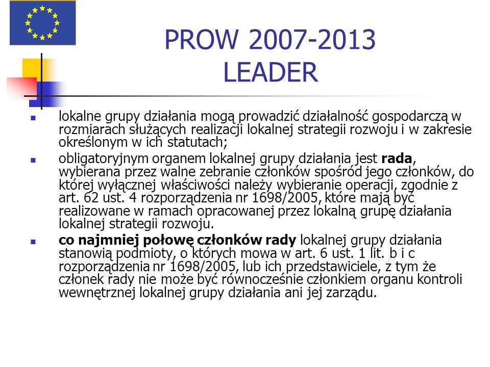 PROW 2007-2013 LEADER