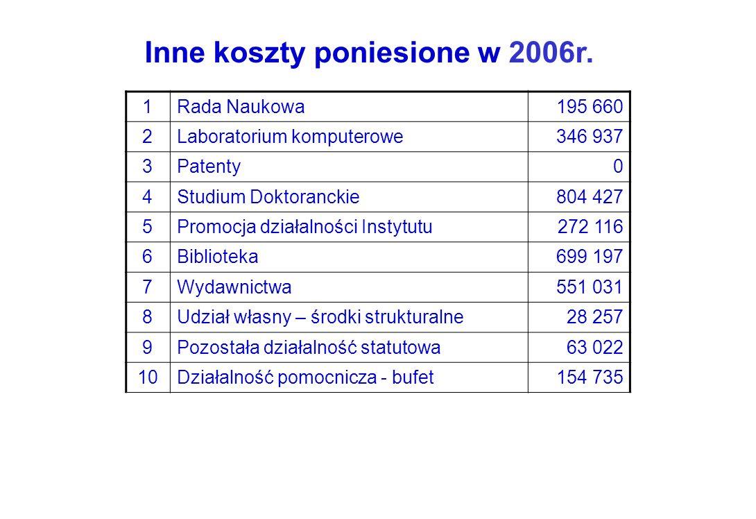 Inne koszty poniesione w 2006r.