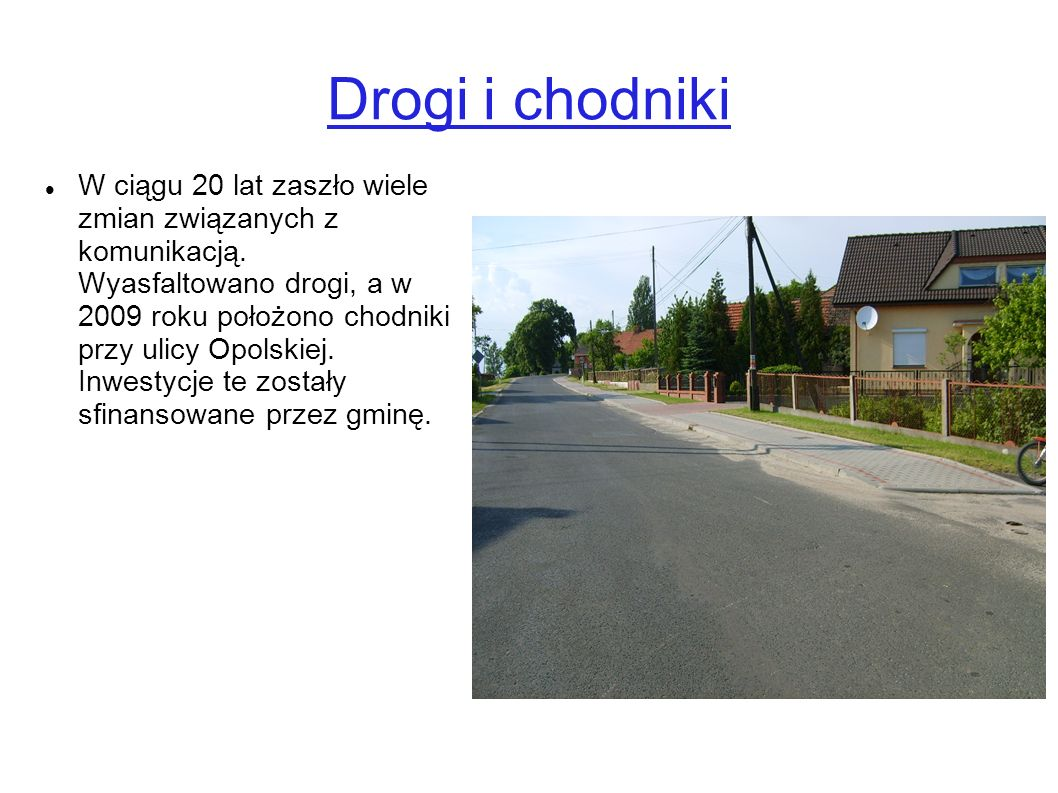Drogi i chodniki