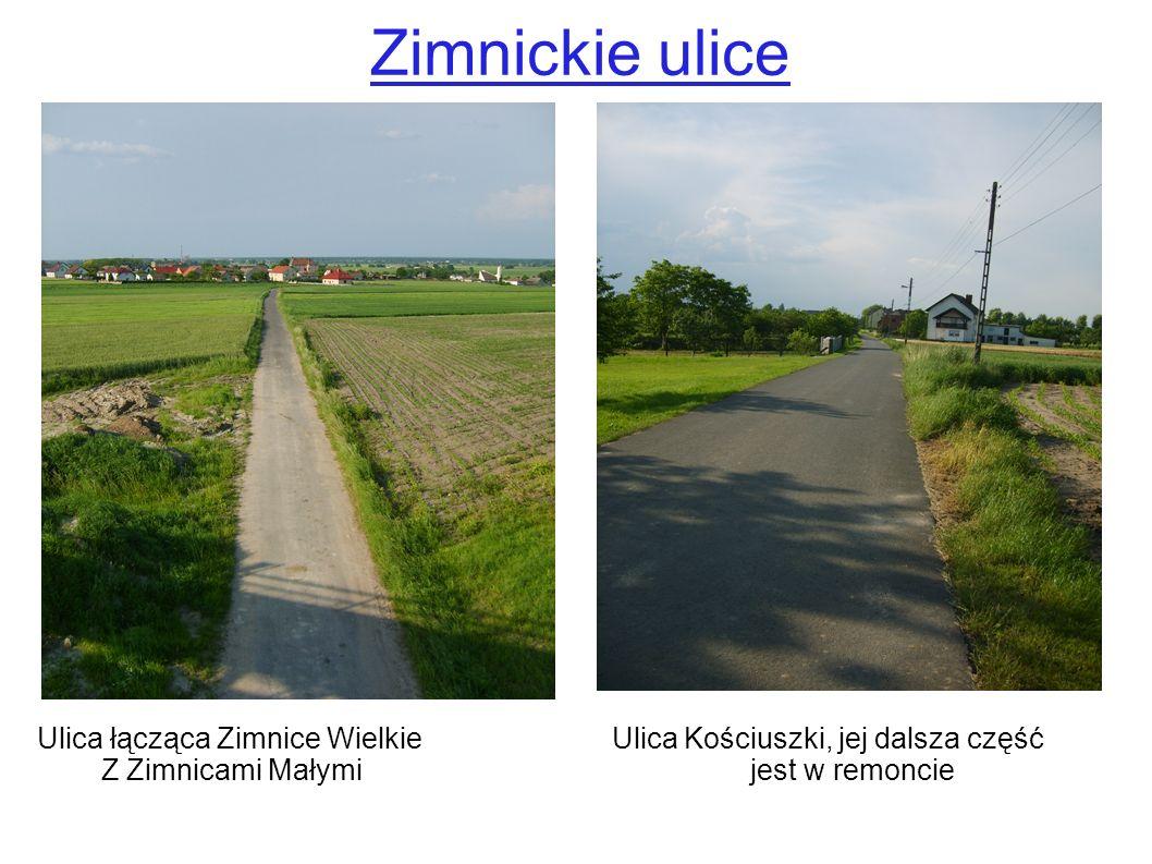 Zimnickie ulice Ulica łącząca Zimnice Wielkie Ulica Kościuszki, jej dalsza część.