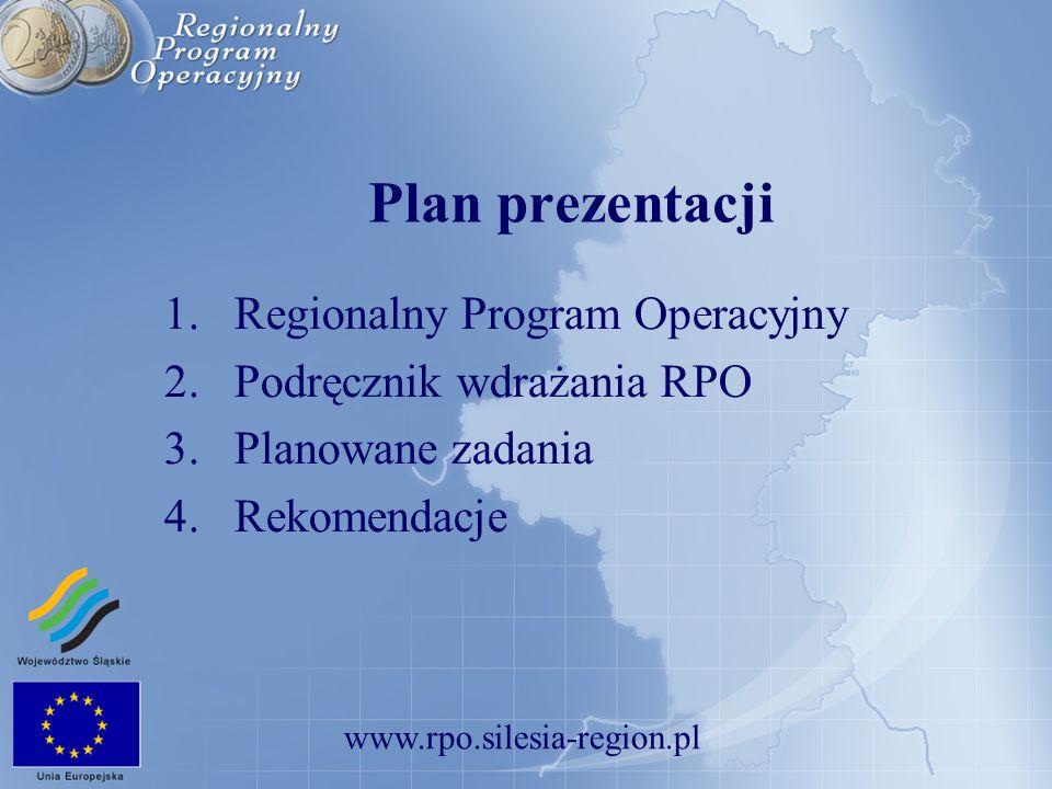 Plan prezentacji Regionalny Program Operacyjny
