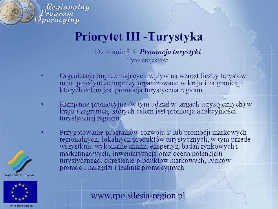 Priorytet III -Turystyka