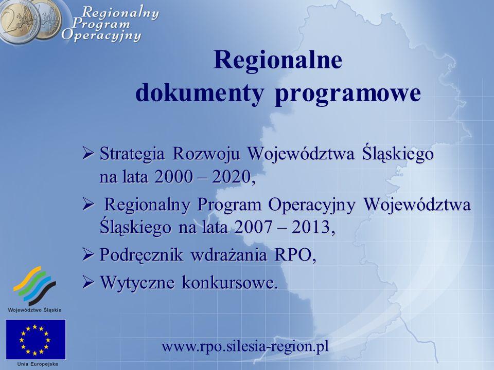 Regionalne dokumenty programowe