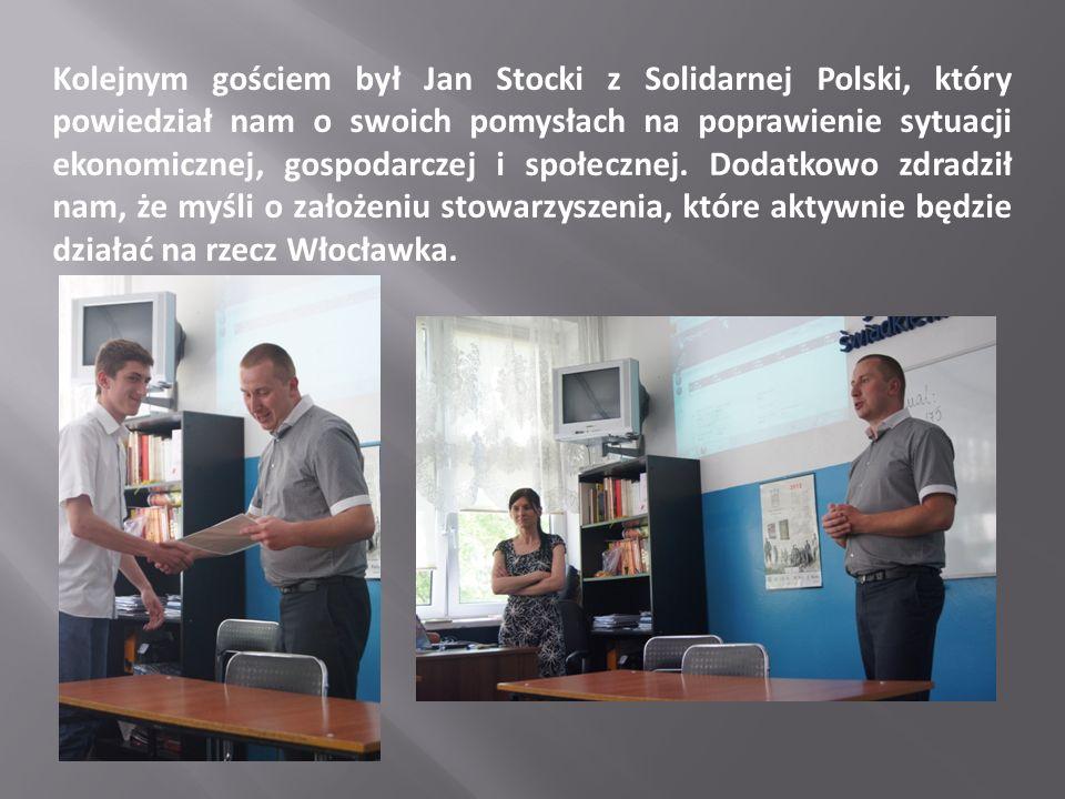 Kolejnym gościem był Jan Stocki z Solidarnej Polski, który powiedział nam o swoich pomysłach na poprawienie sytuacji ekonomicznej, gospodarczej i społecznej.