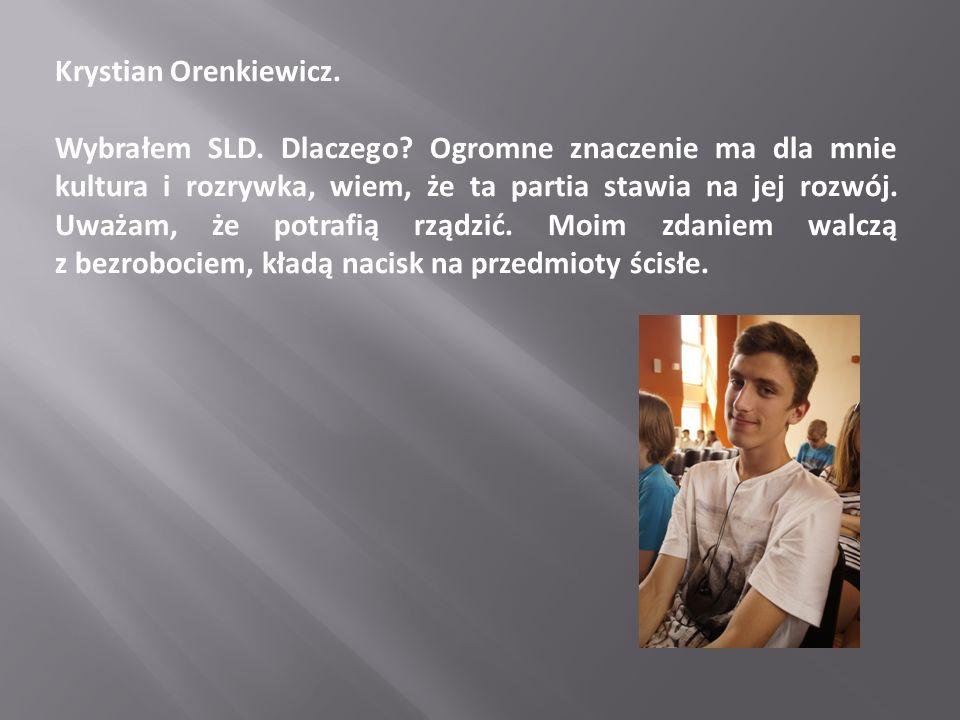 Krystian Orenkiewicz.