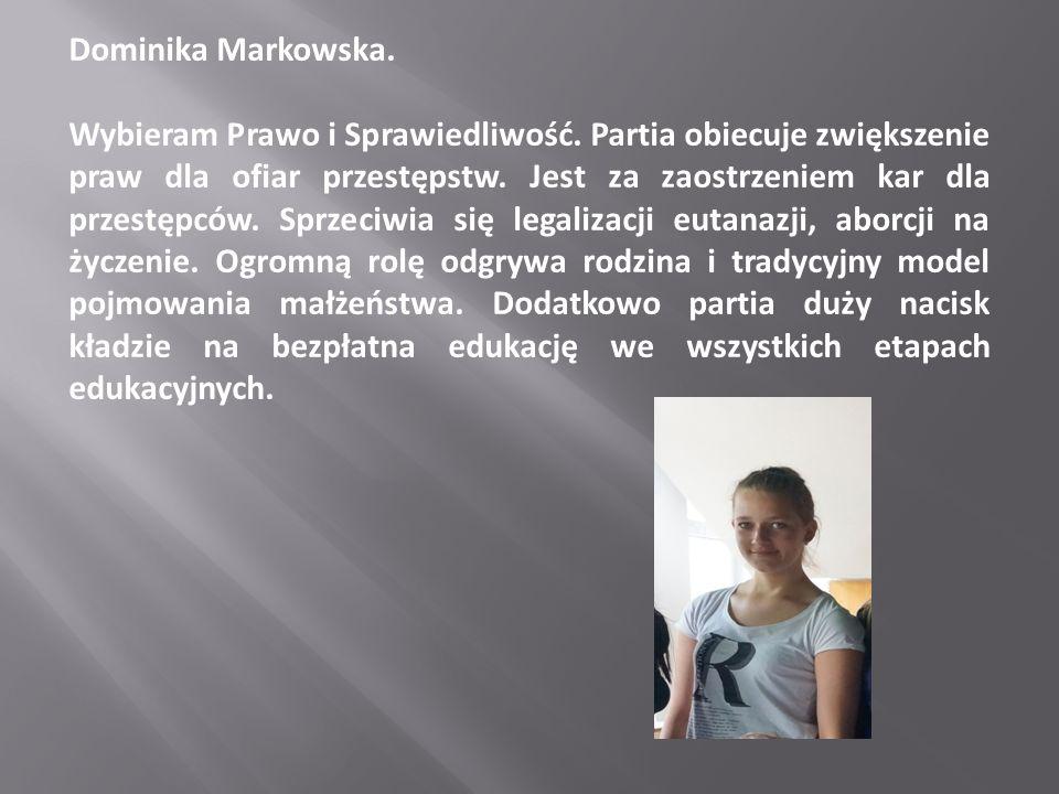 Dominika Markowska.