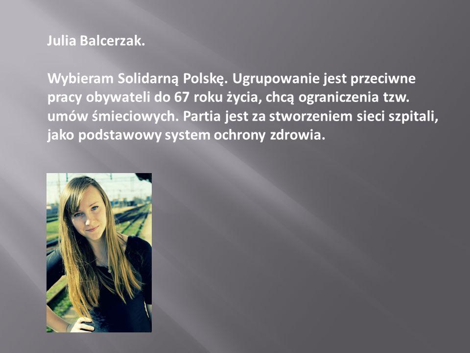 Julia Balcerzak.