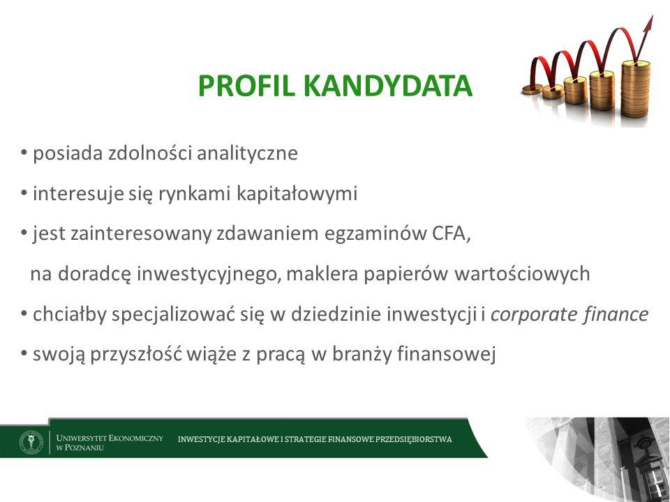PROFIL KANDYDATA posiada zdolności analityczne