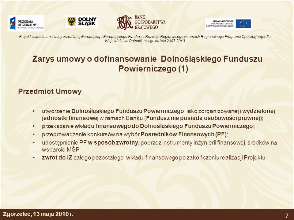 Zarys umowy o dofinansowanie Dolnośląskiego Funduszu Powierniczego (1)