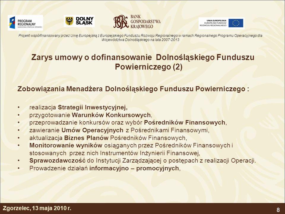 Zarys umowy o dofinansowanie Dolnośląskiego Funduszu Powierniczego (2)