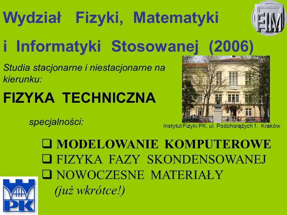 Wydział Fizyki, Matematyki i Informatyki Stosowanej (2006)
