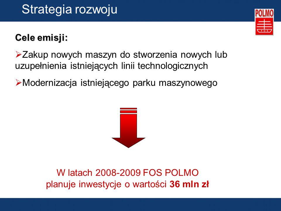 W latach 2008-2009 FOS POLMO planuje inwestycje o wartości 36 mln zł