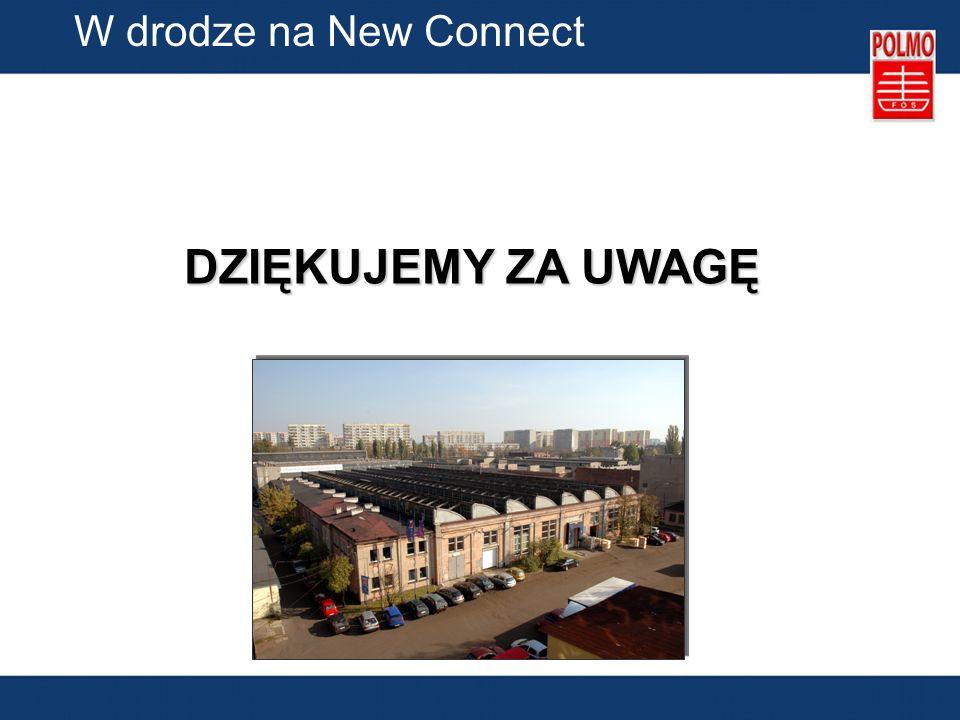 W drodze na New Connect DZIĘKUJEMY ZA UWAGĘ