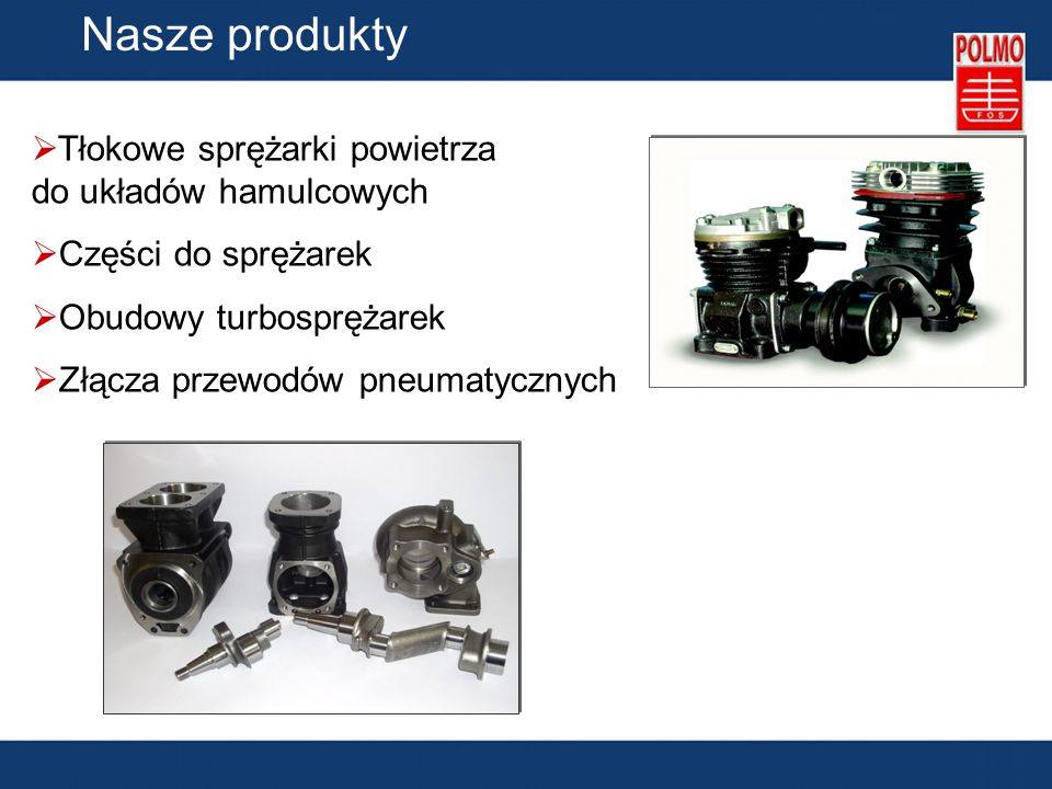 Nasze produkty Tłokowe sprężarki powietrza do układów hamulcowych