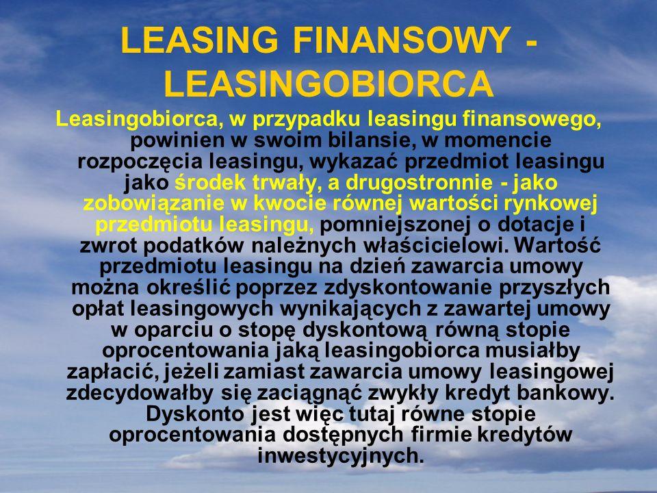 LEASING FINANSOWY - LEASINGOBIORCA