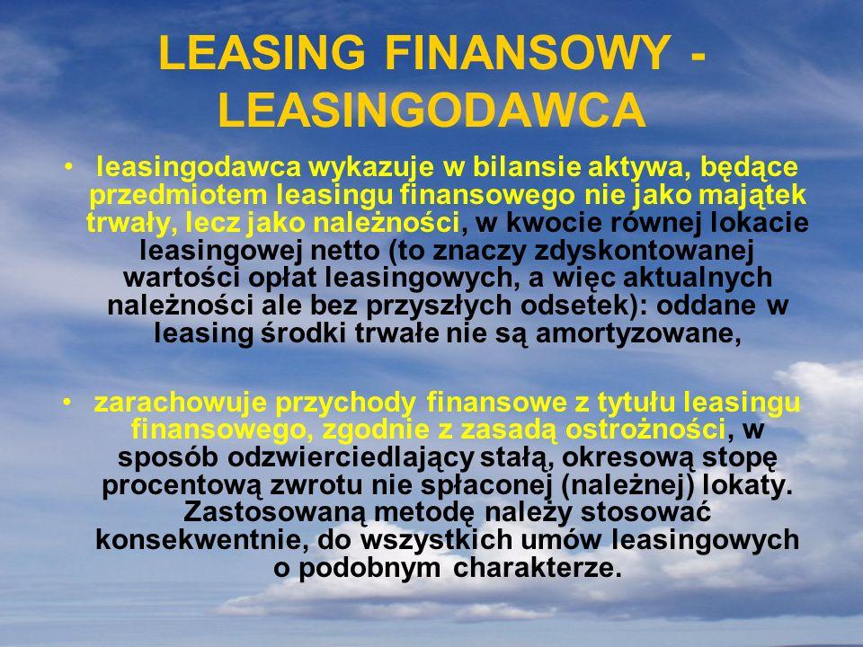 LEASING FINANSOWY - LEASINGODAWCA