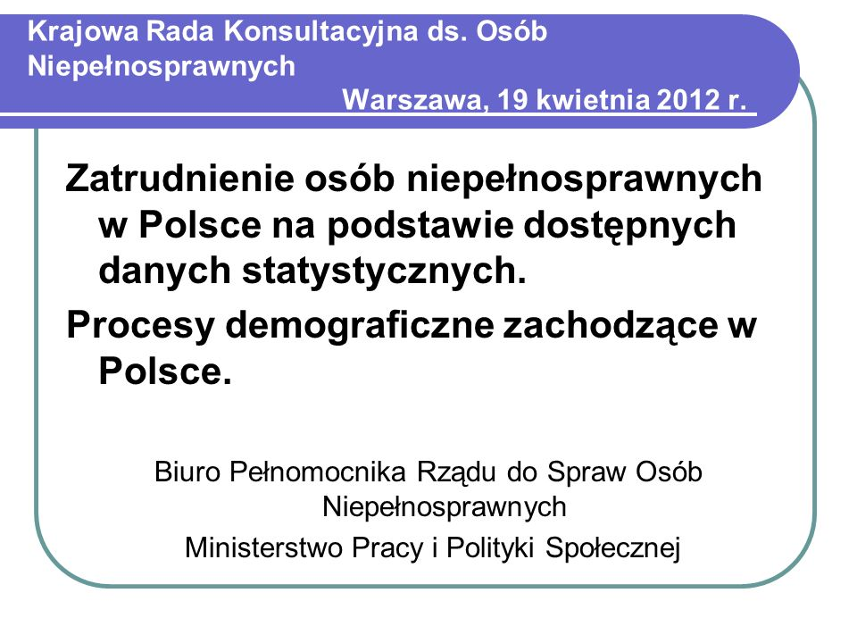Procesy demograficzne zachodzące w Polsce.