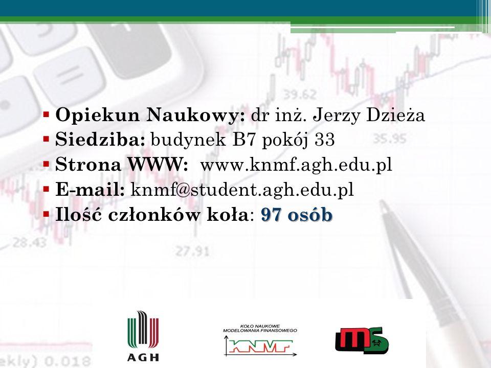 Opiekun Naukowy: dr inż. Jerzy Dzieża