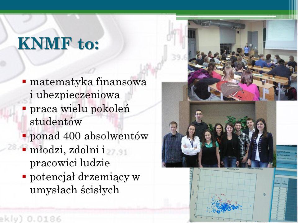 KNMF to: matematyka finansowa i ubezpieczeniowa