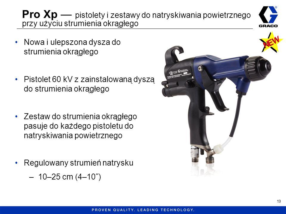 Pro Xp — pistolety i zestawy do natryskiwania powietrznego przy użyciu strumienia okrągłego