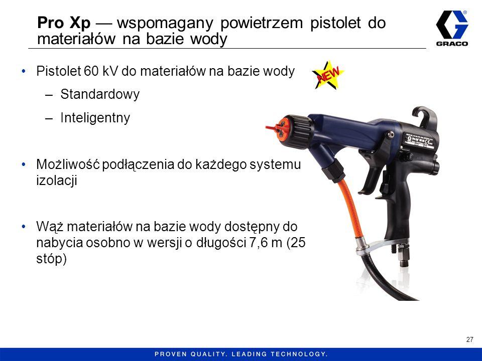 Pro Xp — wspomagany powietrzem pistolet do materiałów na bazie wody