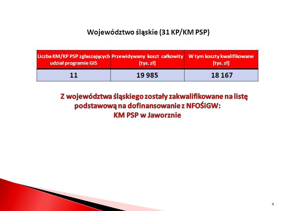 Województwo śląskie (31 KP/KM PSP) 11 19 985 18 167