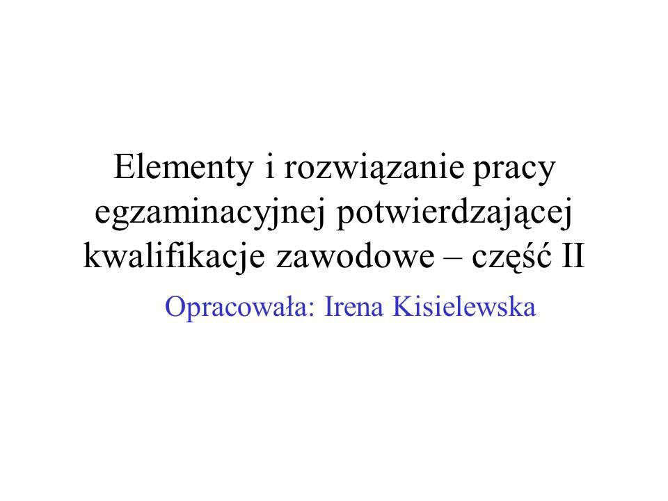 Opracowała: Irena Kisielewska