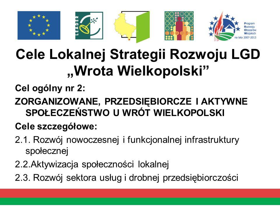 """Cele Lokalnej Strategii Rozwoju LGD """"Wrota Wielkopolski"""