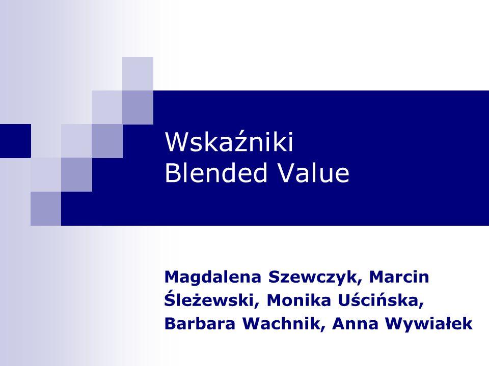 Wskaźniki Blended Value